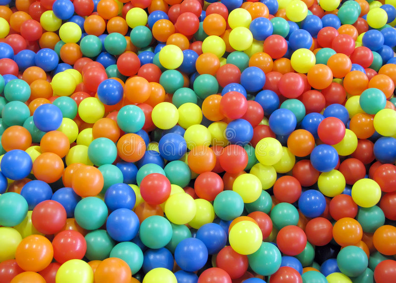 Billes colorées d'amusement photo stock