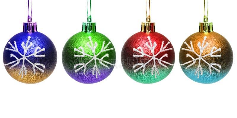 Billes colorées de Noël photos stock