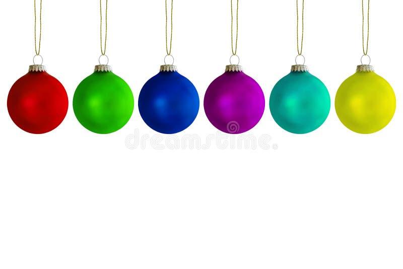 Billes colorées de Noël photo libre de droits