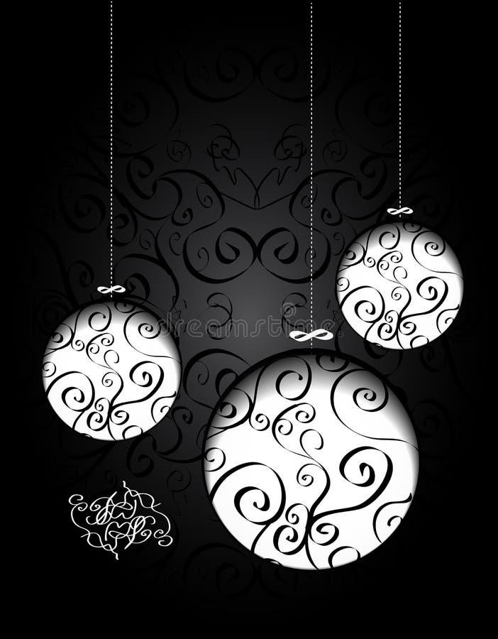 Billes créatrices de Noël avec calligraphique illustration de vecteur