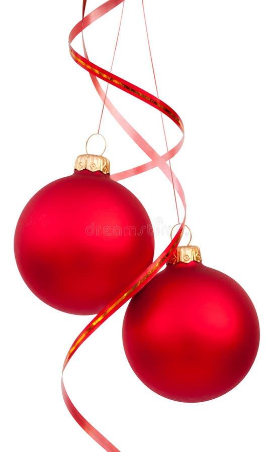 Billes d'arbre de Noël image stock