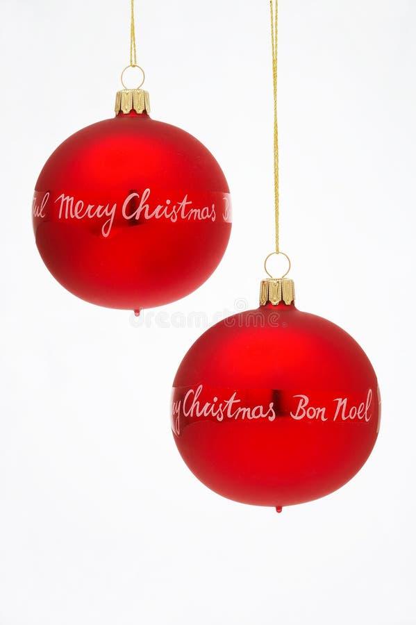 Billes d'arbre de Noël - Weihnachtskugeln photographie stock