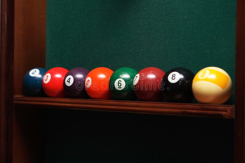 Billes de billards image stock