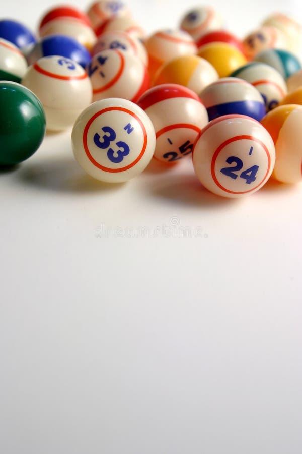 Billes de bingo-test photographie stock