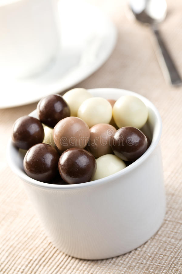 Billes de chocolat images stock
