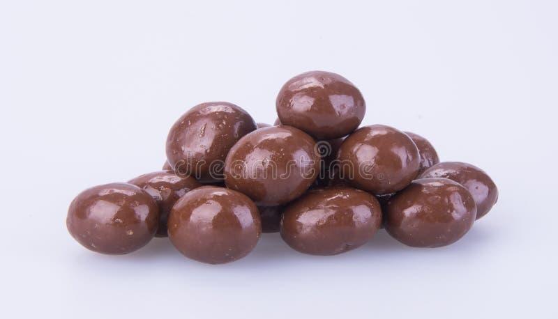 Billes de chocolat boules de chocolat sur un fond photographie stock