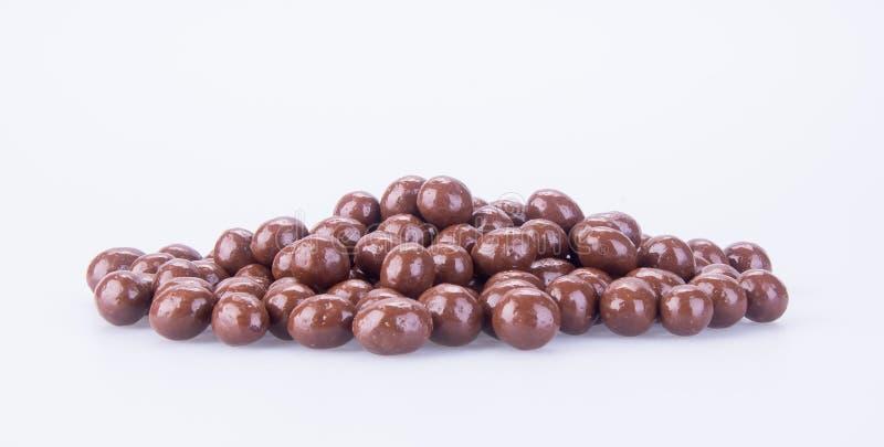 Billes de chocolat boules de chocolat sur un fond photo libre de droits