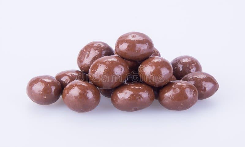 Billes de chocolat boules de chocolat sur un fond photos stock