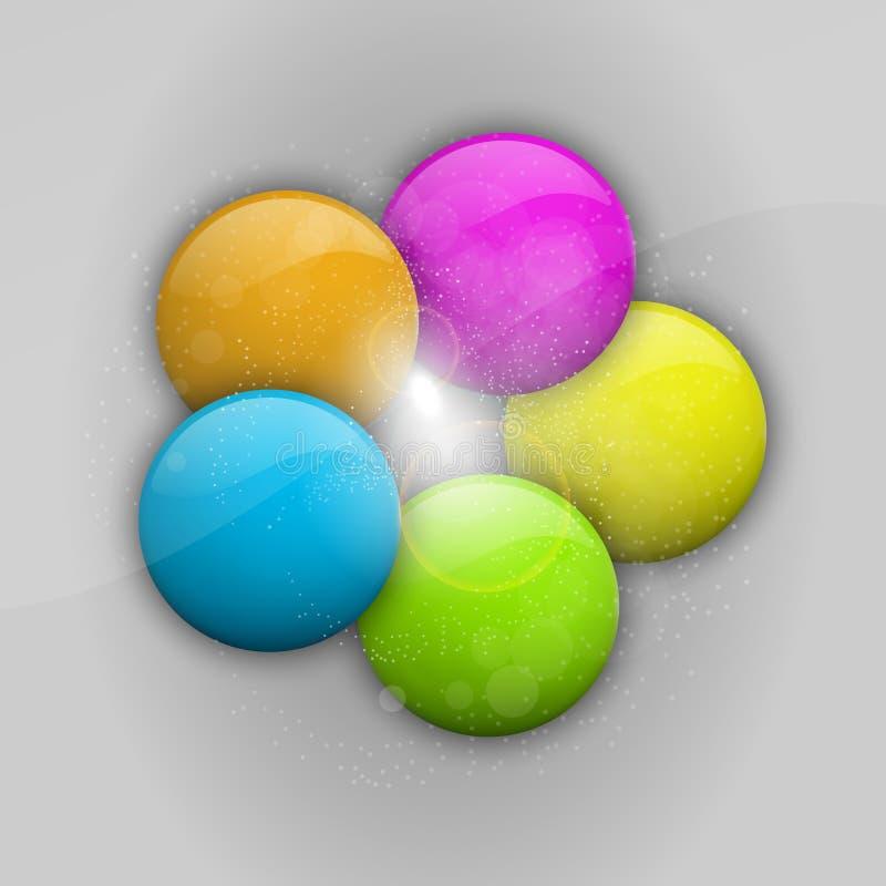 Billes de couleur illustration libre de droits