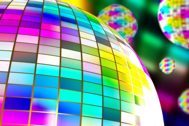 Billes de disco illustration stock
