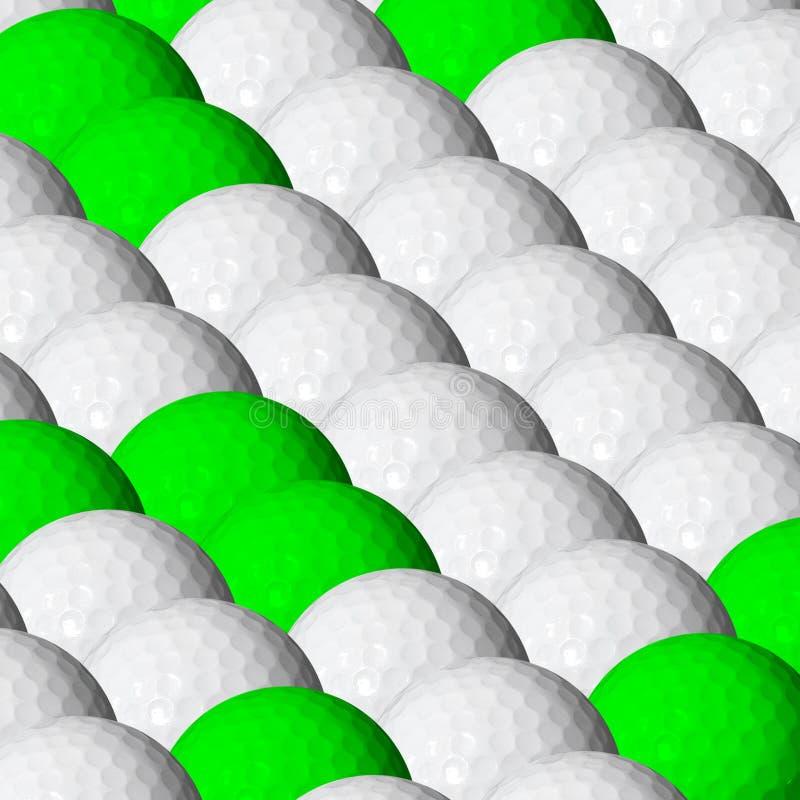 Billes de golf illustration de vecteur