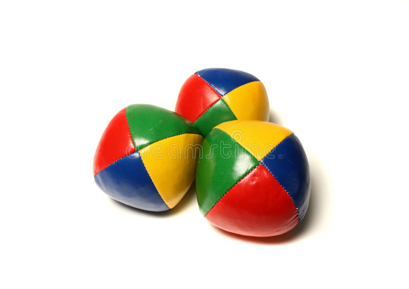 Billes de jonglerie photo stock
