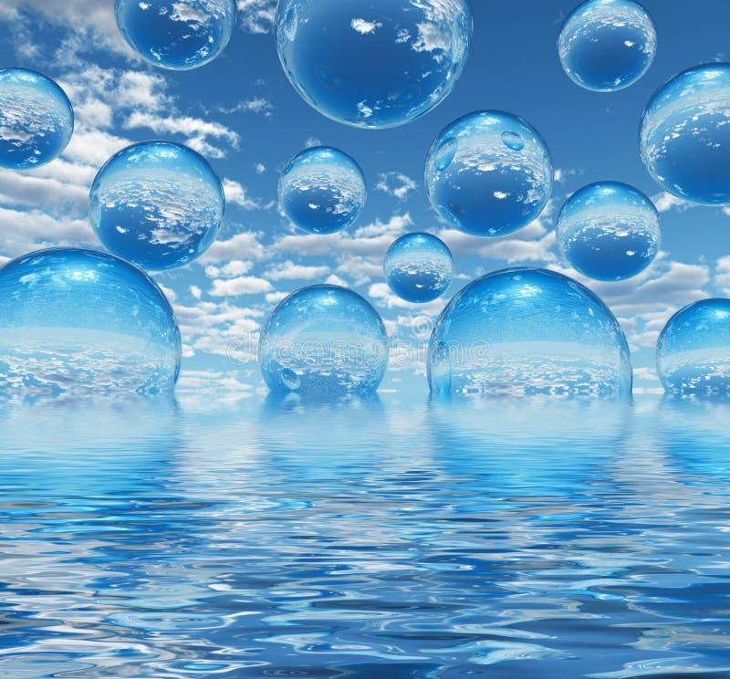 Billes de l'eau illustration de vecteur