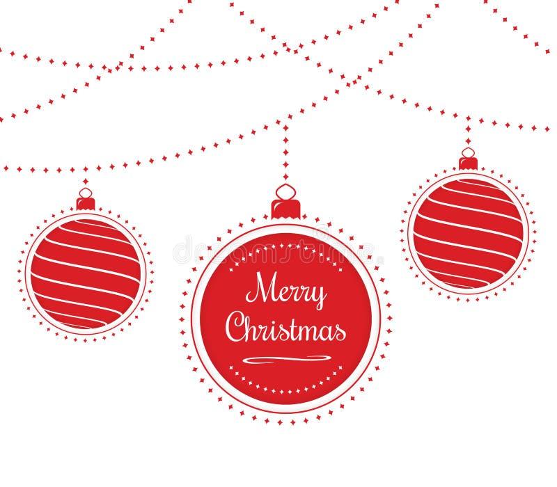 Billes de Noël illustration stock