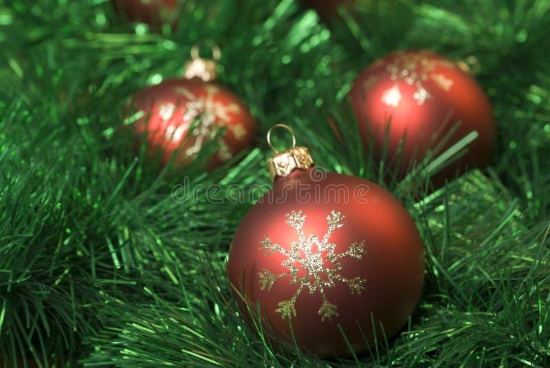 Billes de Noël. image stock
