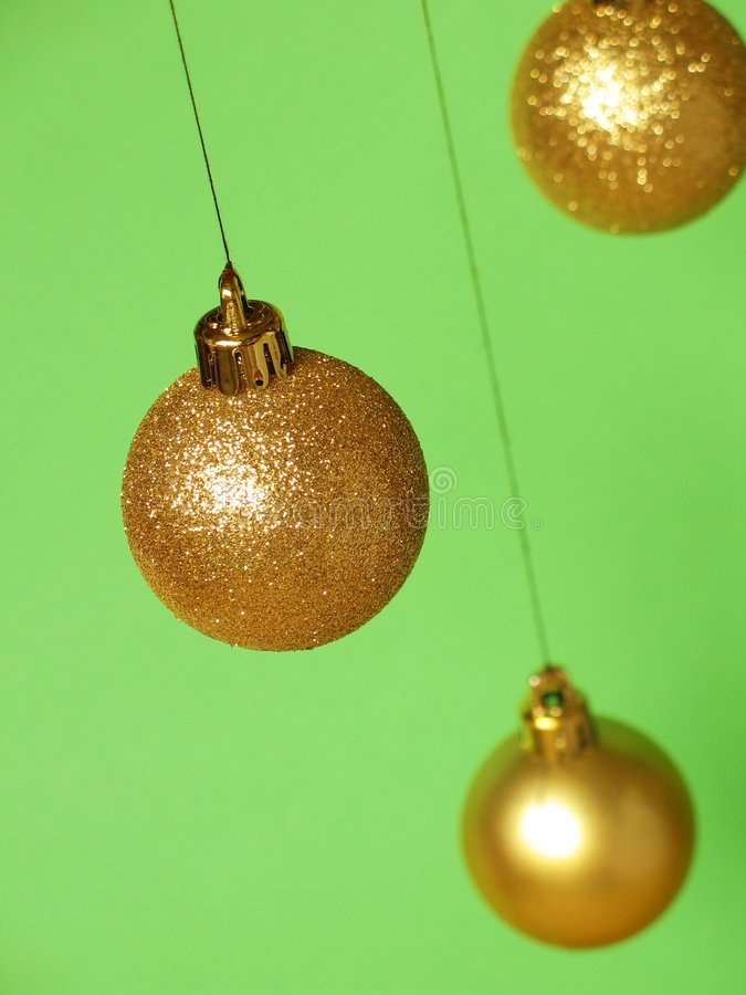 Billes de Noël - 3 photos libres de droits