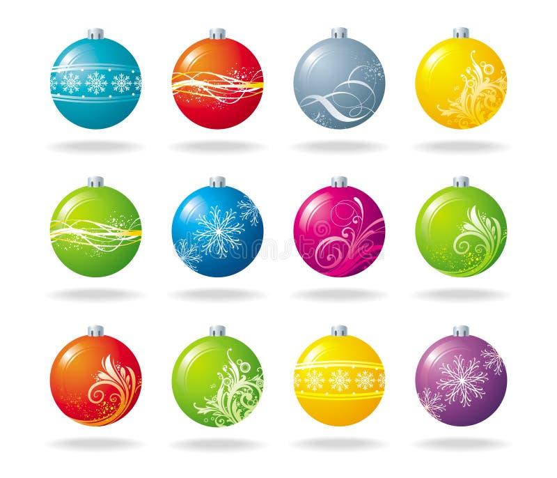 Billes de Noël illustration de vecteur