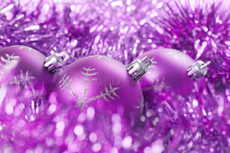 Billes de Noël avec la tresse image libre de droits