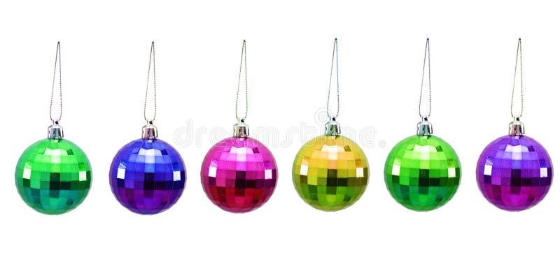 Billes de Noël de diverses couleurs photos libres de droits