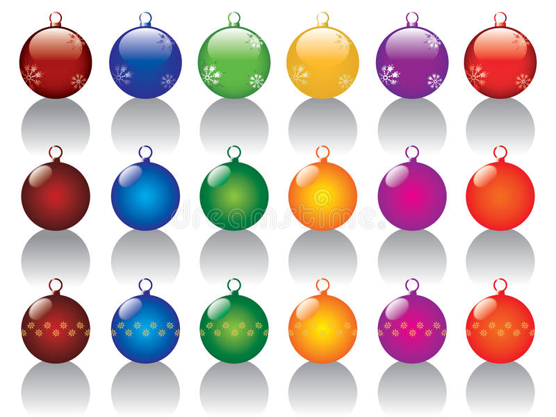 Billes de Noël réglées illustration de vecteur