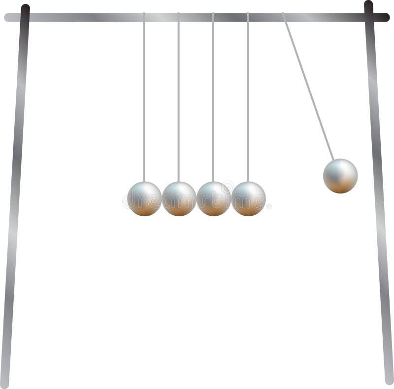 Billes de oscillation en métal illustration stock
