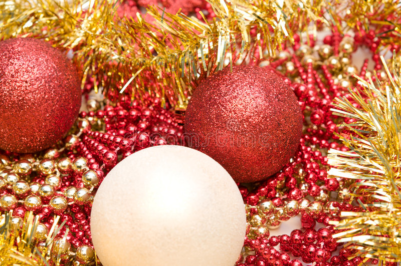 Billes de scintillement de Noël photo stock