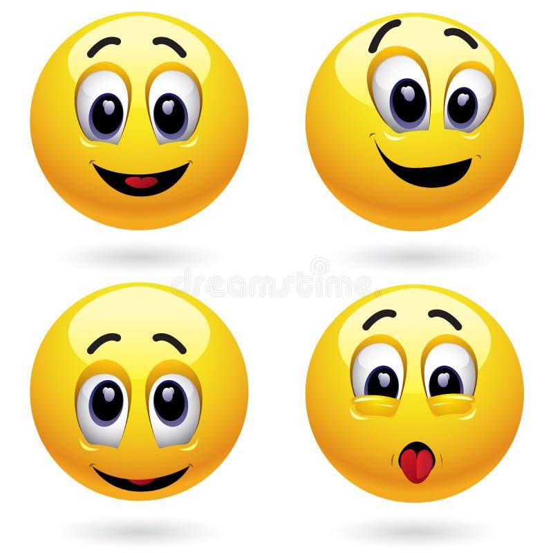 Billes de sourire illustration libre de droits