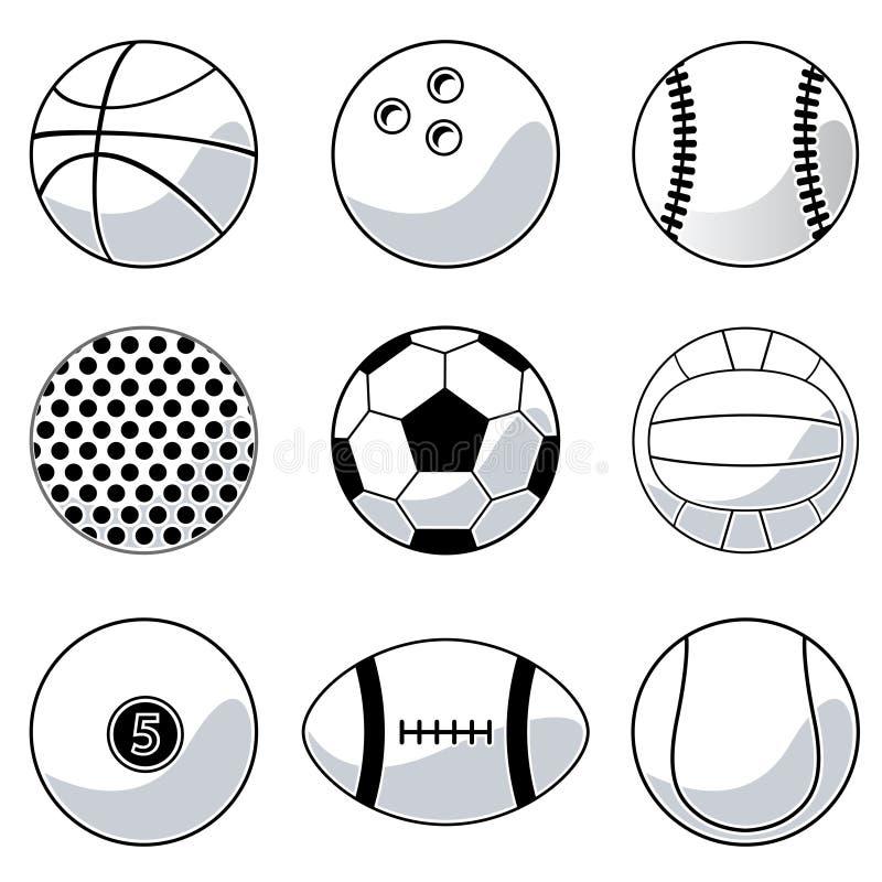 Billes de sport illustration stock