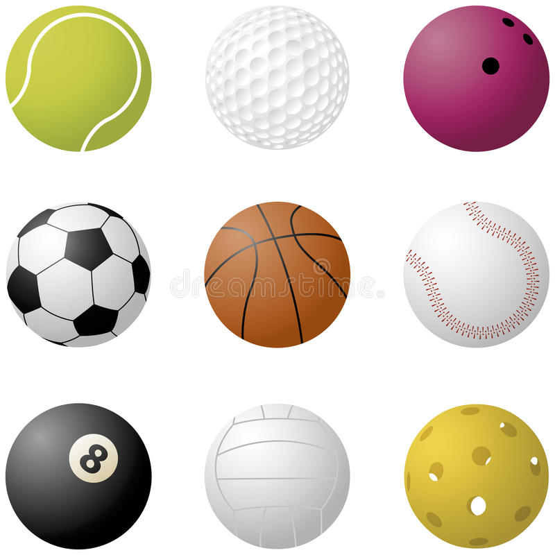 Billes de sport photos libres de droits