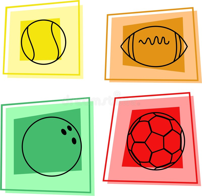 Billes de sport illustration libre de droits