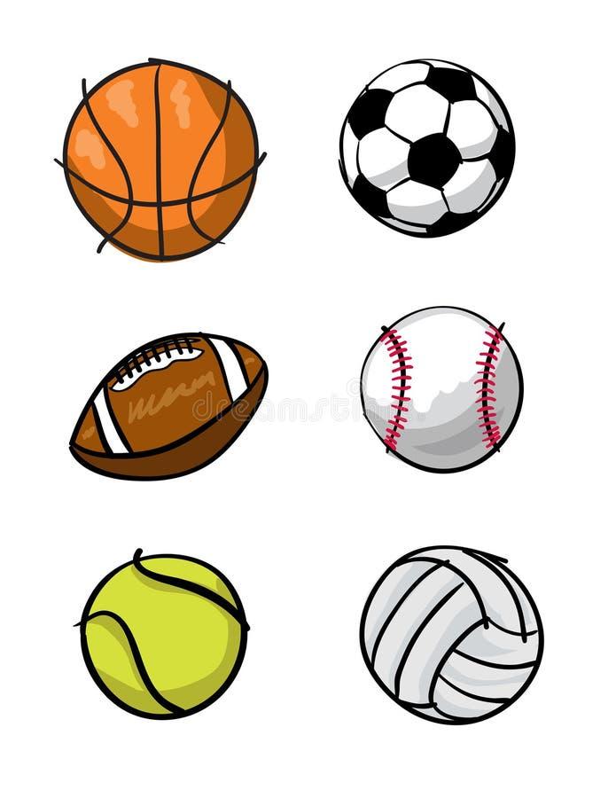Billes de sports de gosses illustration de vecteur