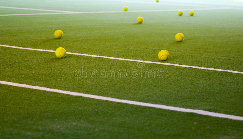 Billes de tennis photo stock