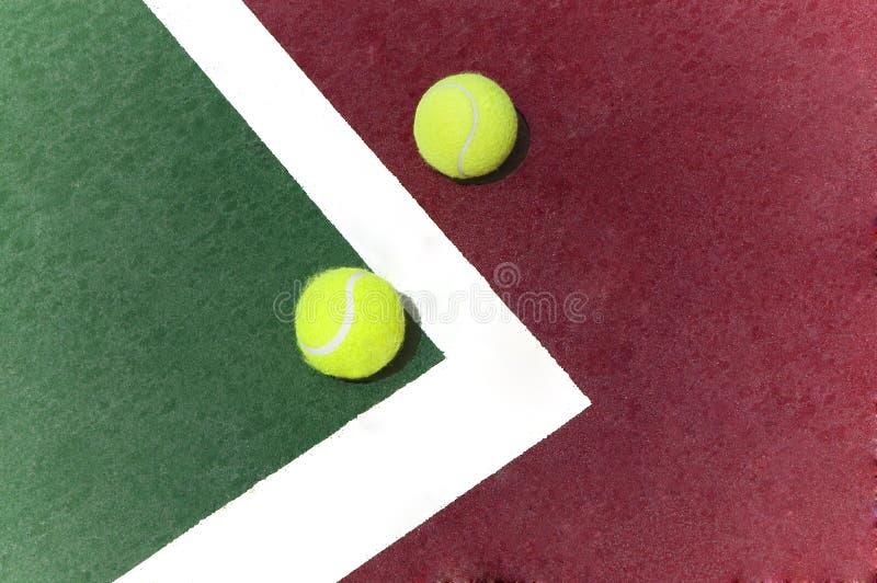 Billes de tennis photo stock