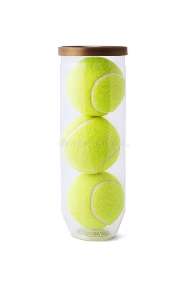 Billes de tennis neuves image stock