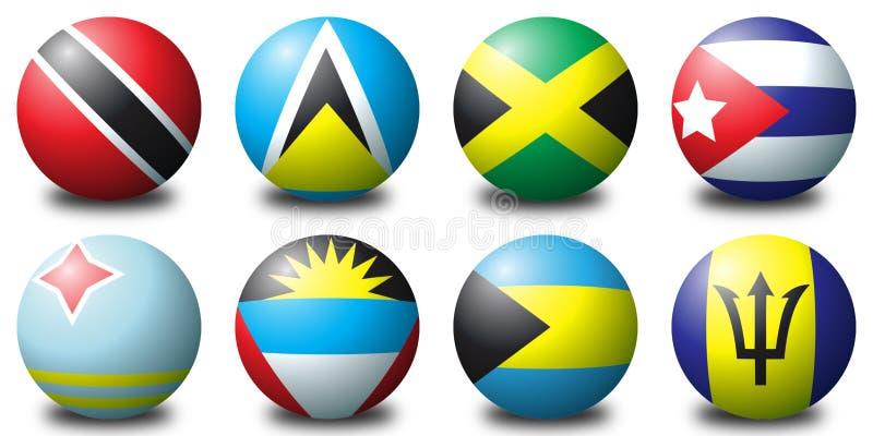 Billes des Caraïbes illustration stock