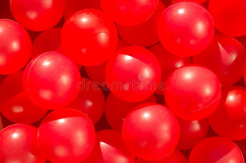 Billes drôles rouges photo stock