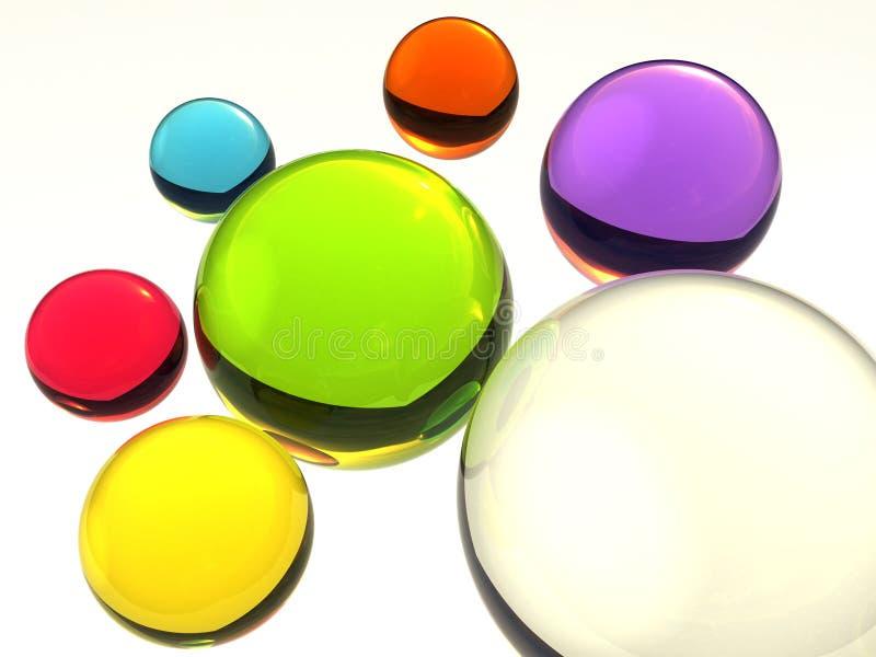 Billes en verre colorées illustration libre de droits