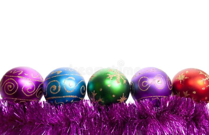 Billes et tresse de Noël photographie stock