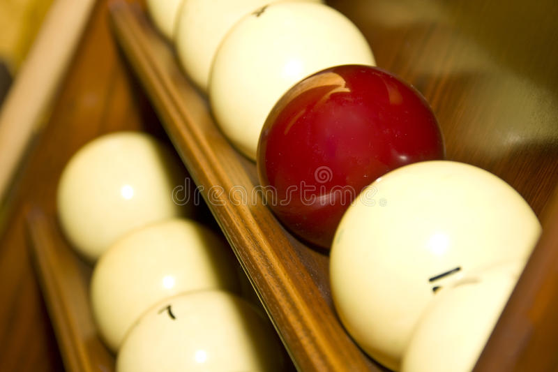 Billes pour les billards russes photo stock