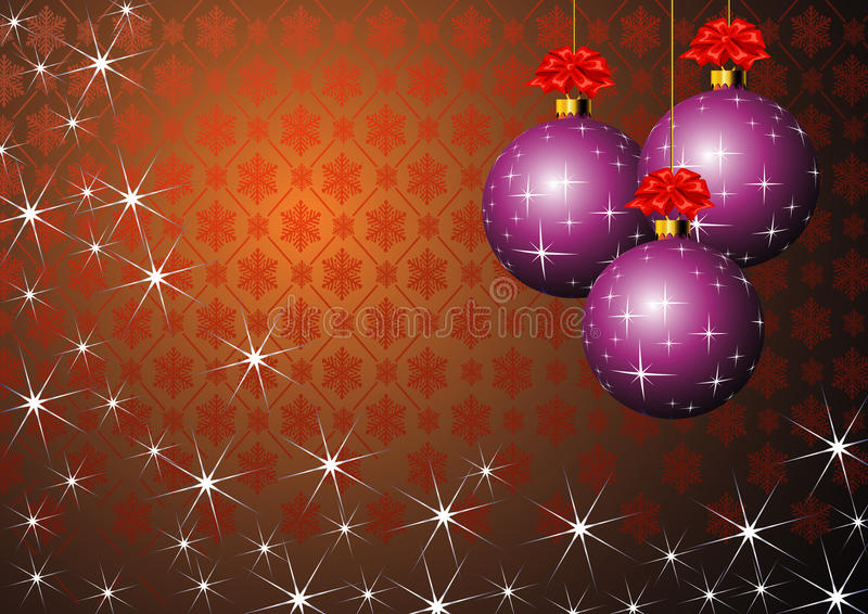 Billes pourprées de Noël illustration libre de droits