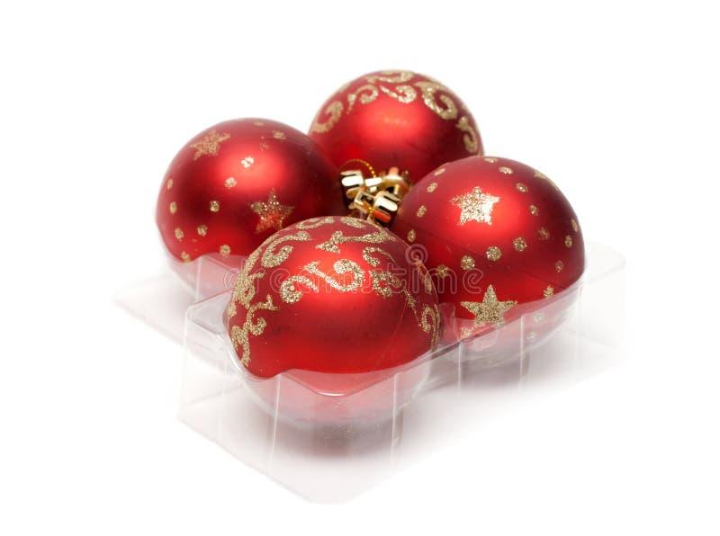Billes rouges de cristmas images stock