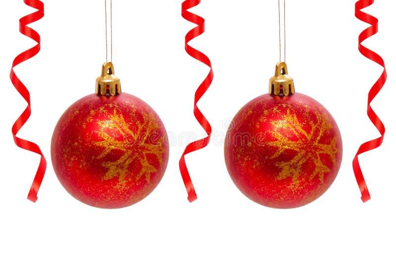 Billes rouges de Noël. photographie stock libre de droits