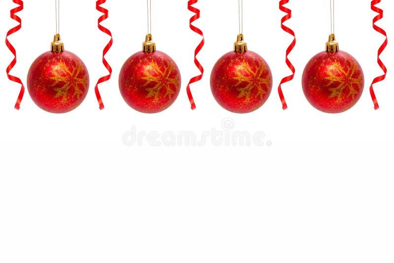 Billes rouges de Noël. images libres de droits