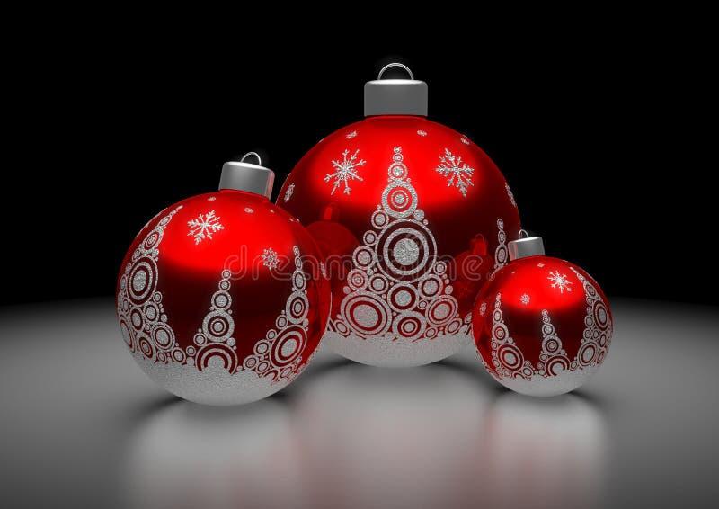Billes rouges de Noël image stock