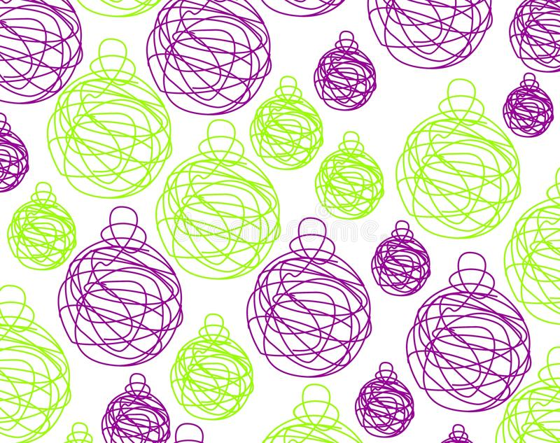 Download Billes violettes de Noël illustration stock. Illustration du points - 45369189