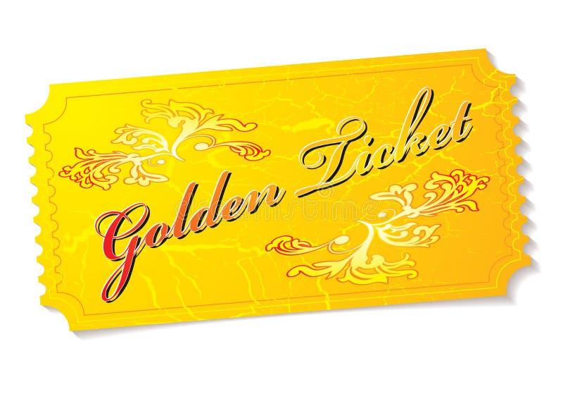Billet d'or illustration libre de droits