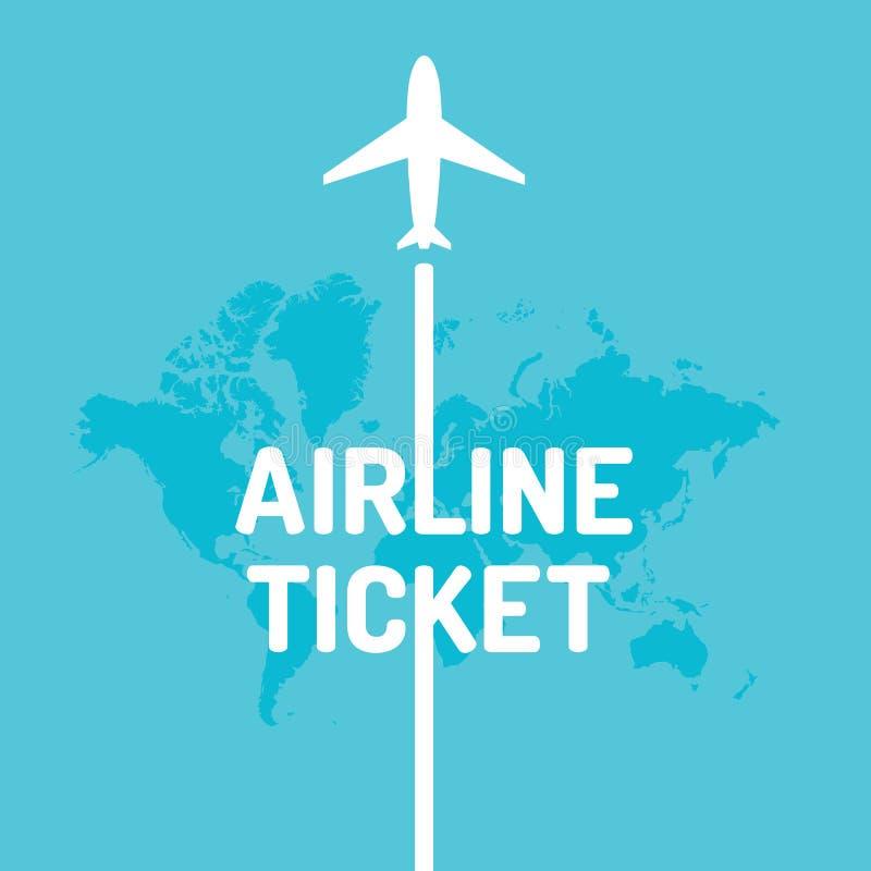 Billet d'avion d'illustration de vecteur illustration de vecteur