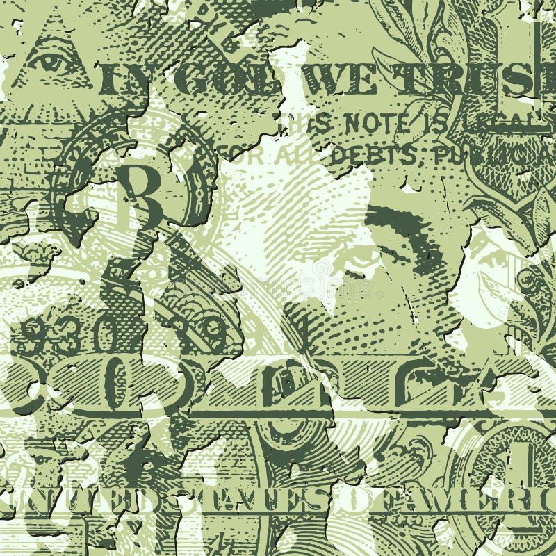 Billet d'un dollar grunge illustration libre de droits
