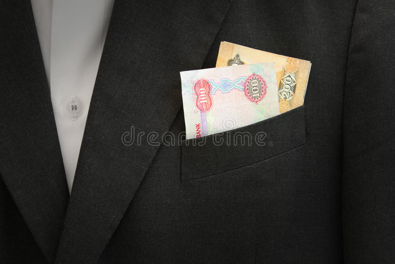 Billet de banque de dirhams des EAU photographie stock