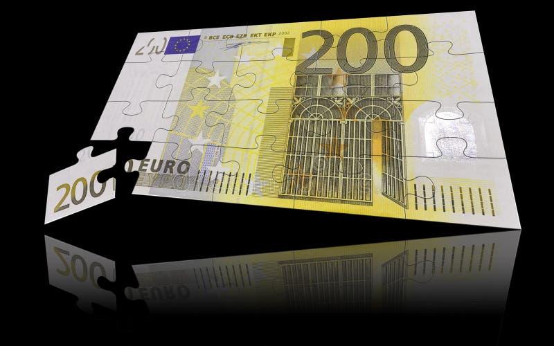 Billet de banque de l'euro 200 photos stock